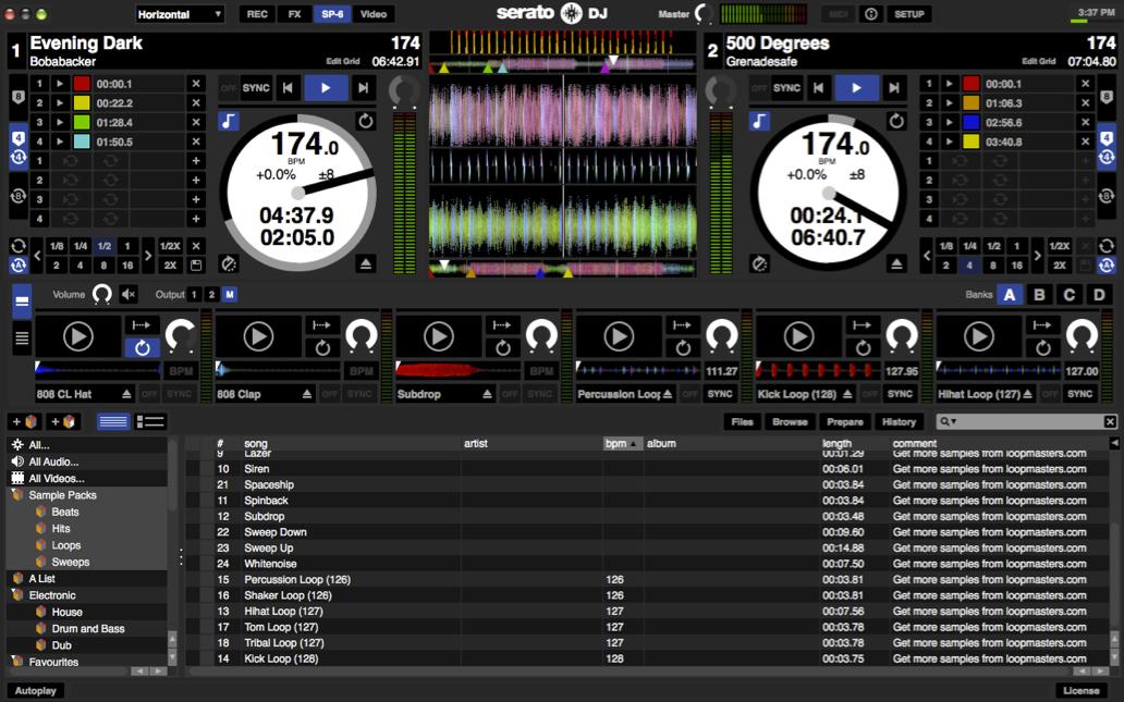 Serato DJ actualizado a la versión 1.2.1