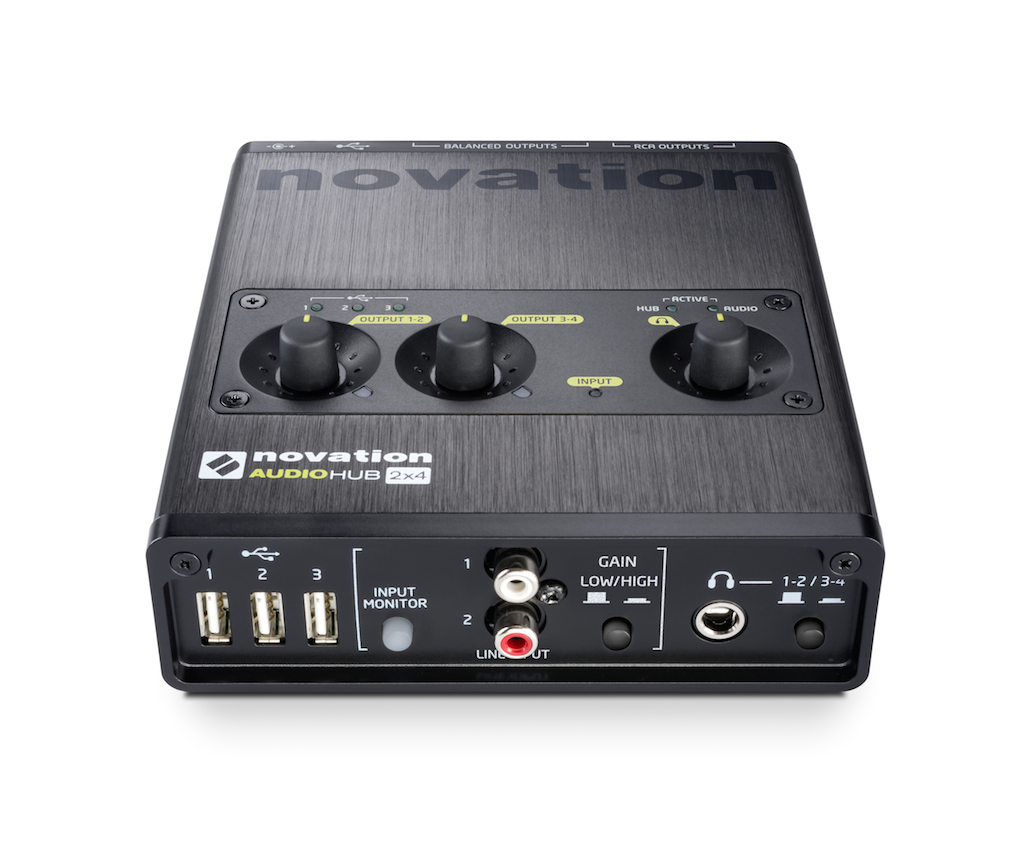 Nuevo interface de audio Novation Audiohub 2×4