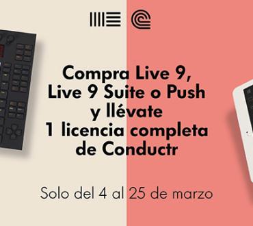Compra Ableton Live 9, Ableton Live 9 Suite o Ableton Push y consigue Conductr gratis