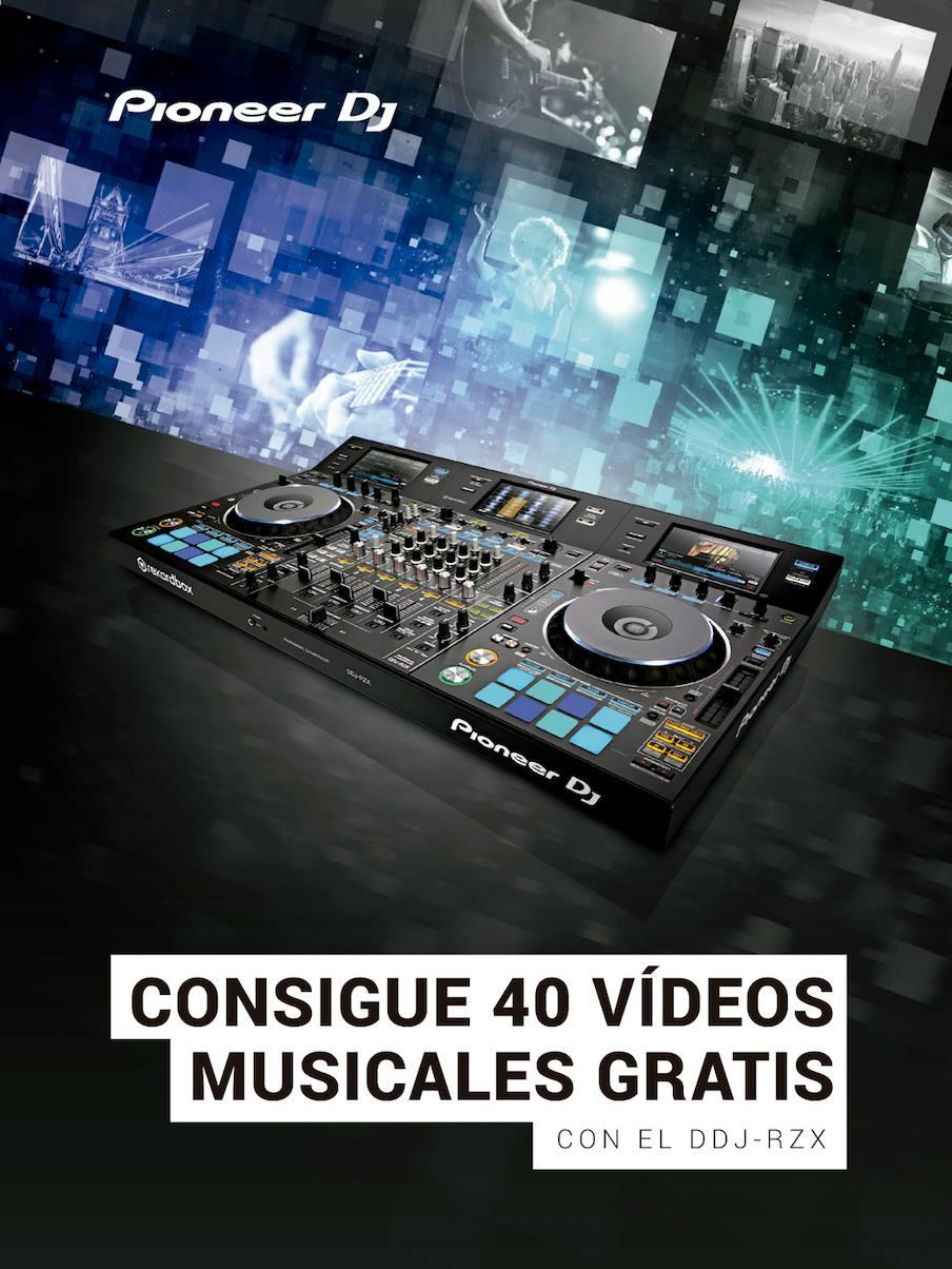 Descarga gratis 40 videos musicales si tienes el Pioneer DDJ-RZX