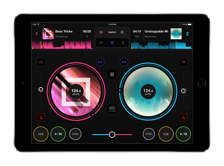 WeDJ nueva versión de la app de Pioneer optimizada para iPhone e iPad