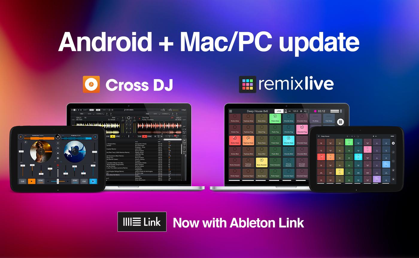 Cross DJ y Remixlive ahora son compatibles con Ableton Link