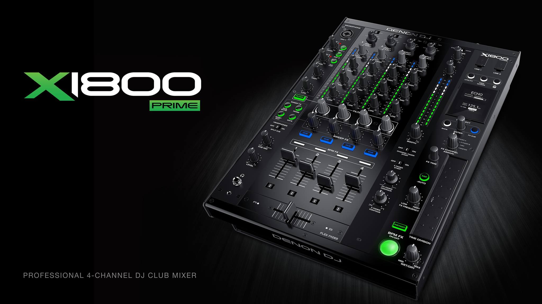 Nuevo mixer Denon X1800