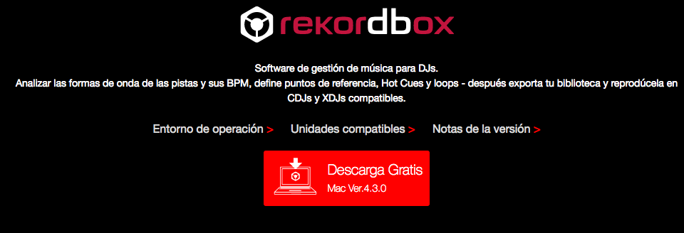 Nueva actualización Rekordbox 4.3