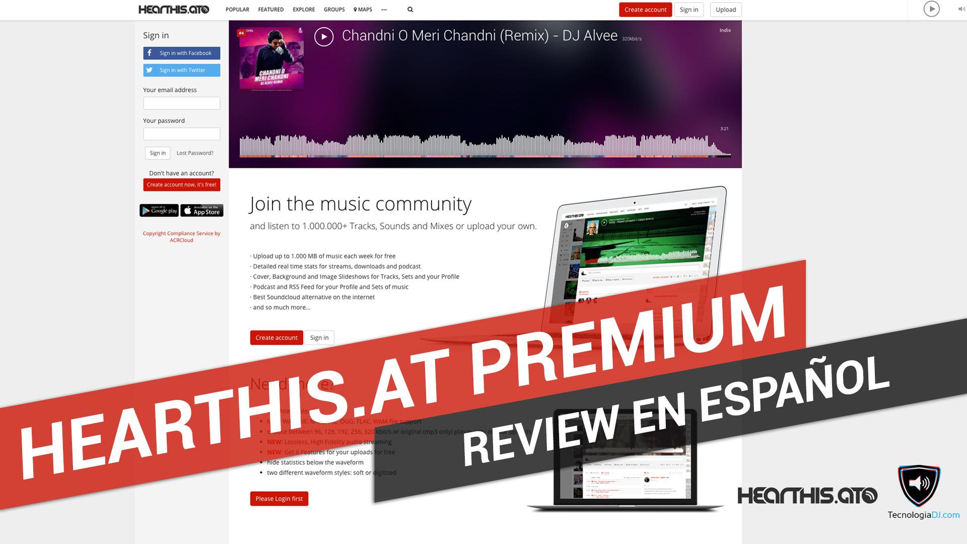 Review en español Hearthis.at Premium
