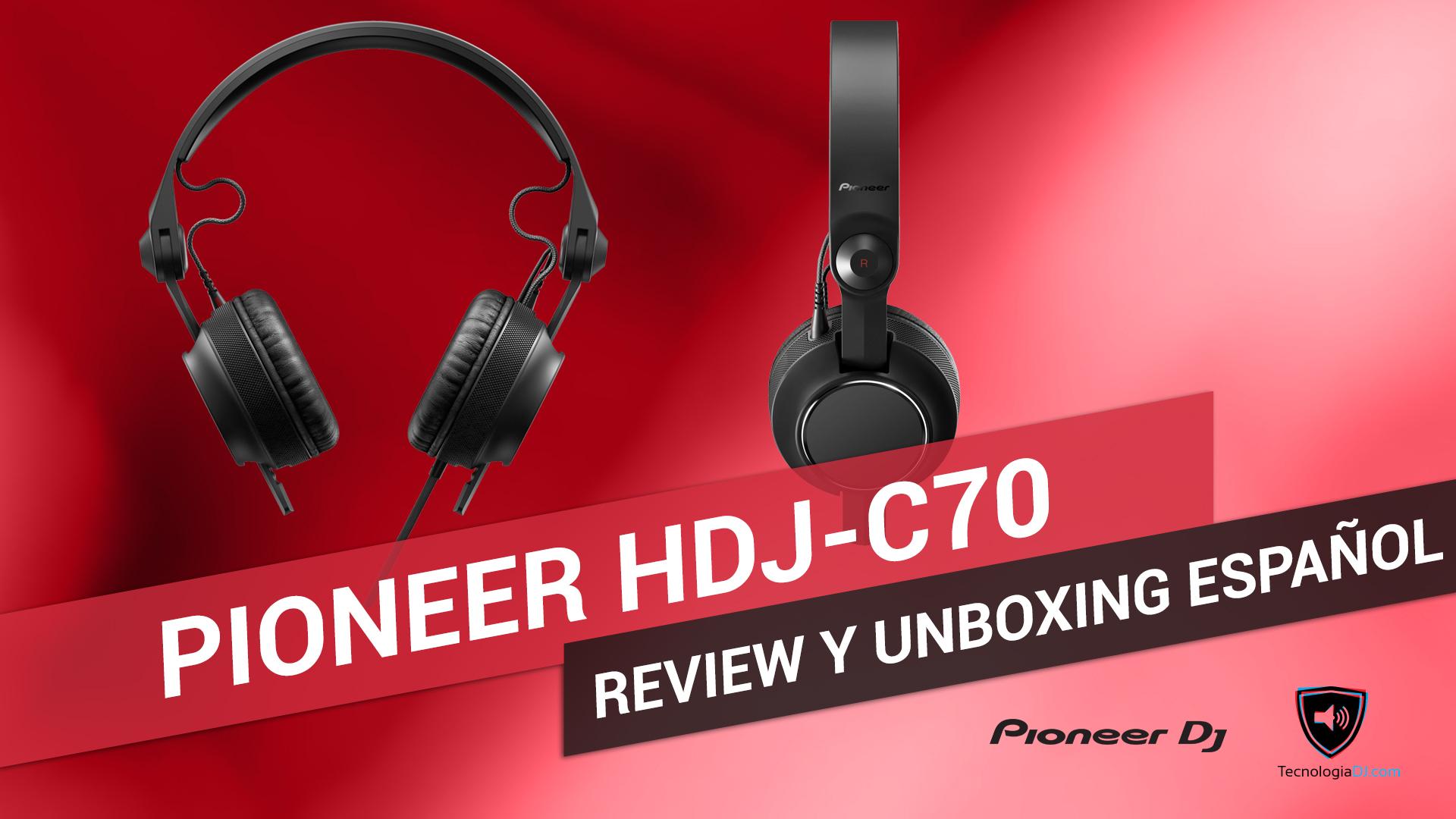 Review y unboxing en español auriculares Pioneer HDJ-C70