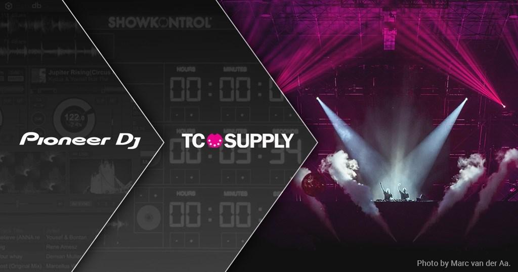Pioneer DJ desarrolla un sistema en red junto con TC Supply para mejorar las actuaciones de DJ con iluminación y efectos visuales coordinados