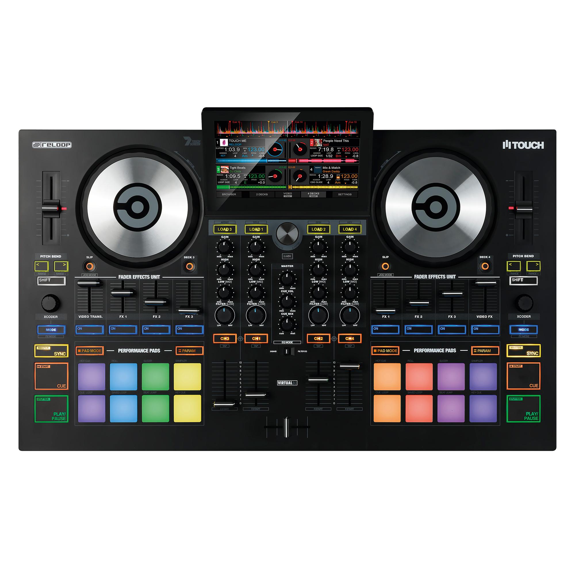 Reloop Touch, controlador con pantallas compatible con Virtual DJ