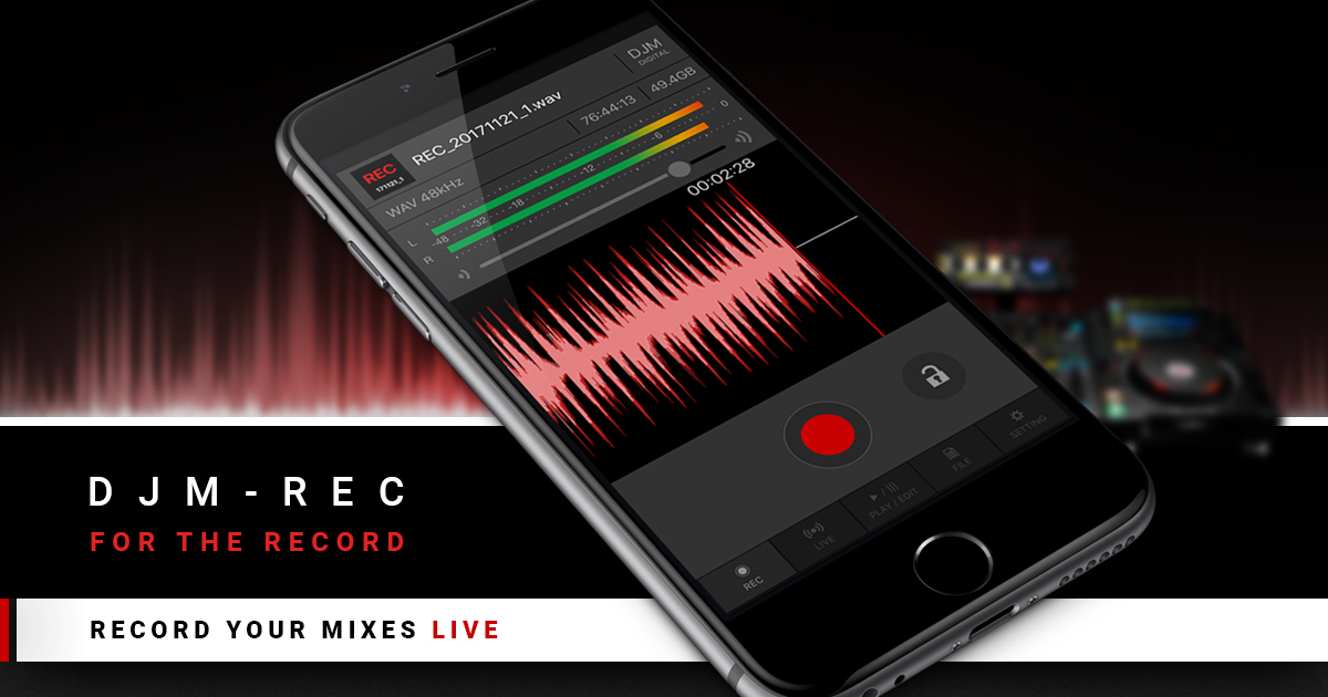 Nueva aplicación DJM-REC de Pioneer DJ que permite grabar las sesiones fácilmente