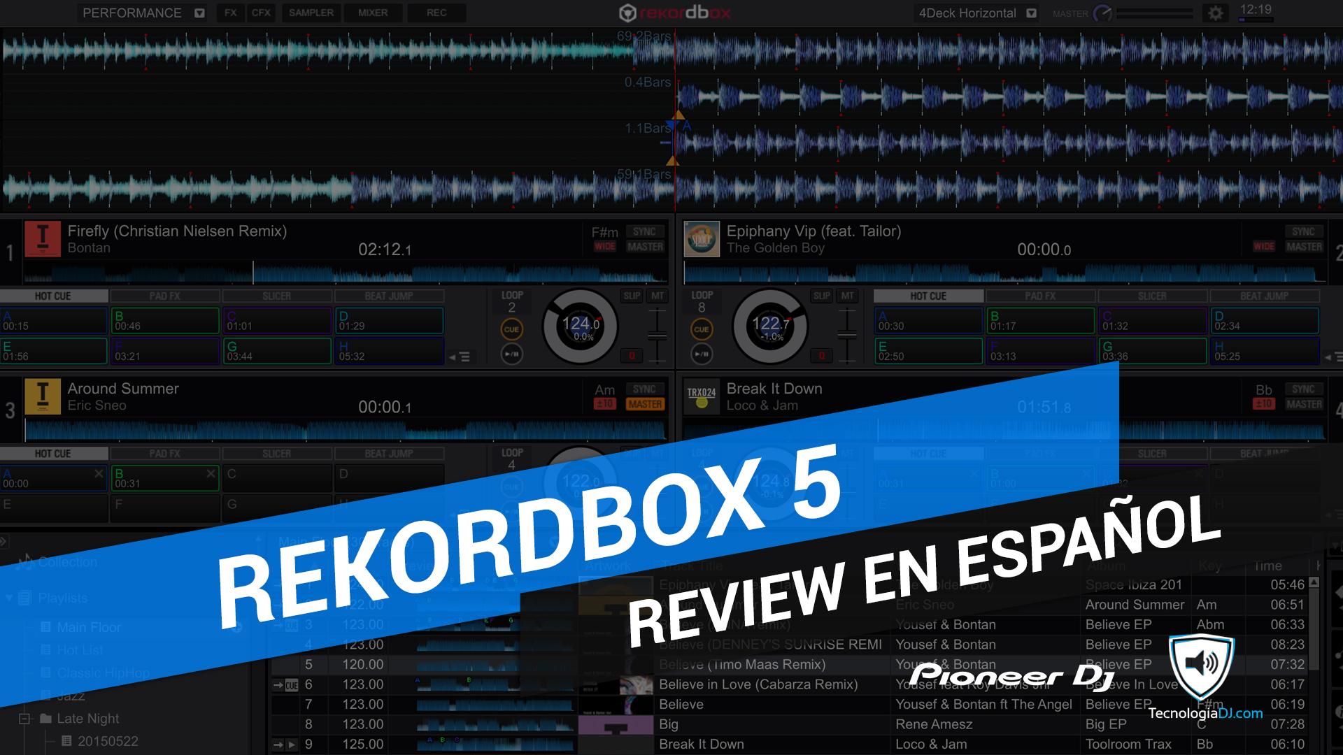 Review en español Rekordbox 5
